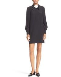 Vestido camisa de seda negra de Kate Spade