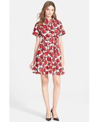 Vestido camisa estampada roja de Kate Spade