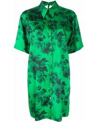 Vestido camisa estampada verde de No.21