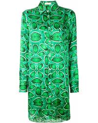 Vestido camisa estampada verde de Wunderkind