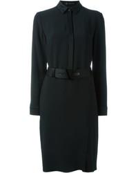 Vestido camisa negra de Versace