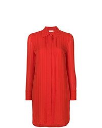 Vestido camisa roja de Tory Burch