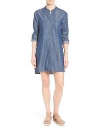 Vestido camisa vaquera azul de Eileen Fisher