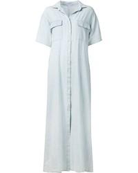 Vestido camisa vaquera celeste de Frame Denim