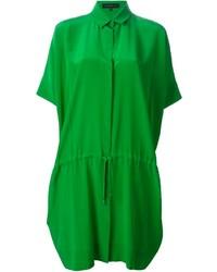 Vestido camisa verde de Barbara Bui