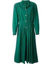 Vestido camisa verde de Krizia