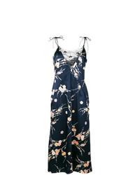 Vestido camisola con print de flores azul marino de Giorgio Armani Vintage