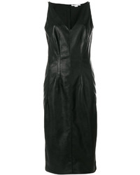 Vestido camisola de cuero negro de Stella McCartney
