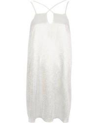 Vestido camisola de satén blanco