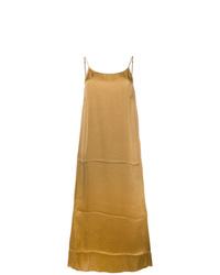 Vestido camisola de satén mostaza de Uma Wang