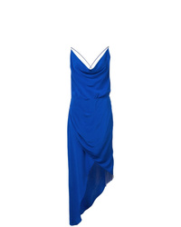 Vestido camisola de seda azul de Haney