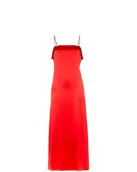 Vestido camisola de seda rojo de Deitas