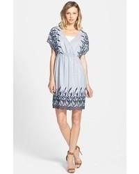 3ecd93edc7 Comprar un vestido casual bordado celeste  elegir vestidos casual ...