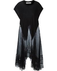 Vestido casual de encaje negro de Givenchy
