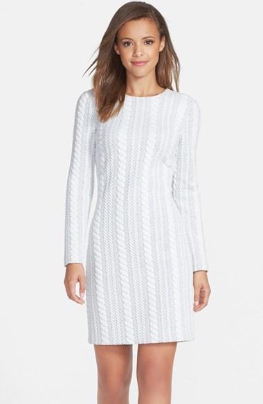 8a9258d5c ... Vestido casual de punto blanco ...