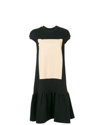 Vestido casual estampado negro de Ioana Ciolacu