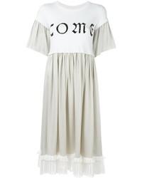 Vestido casual plisado blanco de MM6 MAISON MARGIELA