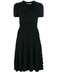 Vestido con adornos negro de Valentino