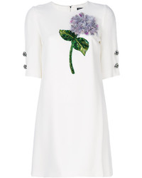 Vestido con cuentas bordado blanco de Dolce & Gabbana