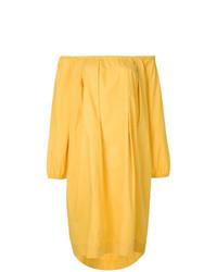 Vestido con hombros al descubierto amarillo de Fendi Vintage