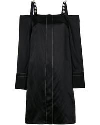 Vestido con hombros al descubierto con adornos negro de 3.1 Phillip Lim