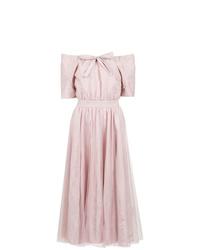 Vestido con hombros al descubierto rosado de Gloria Coelho