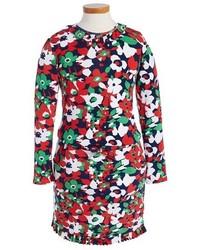 Vestido con print de flores en multicolor de Oscar de la Renta