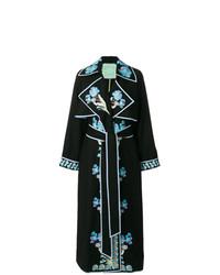 Vestido cruzado bordado negro de Yuliya Magdych