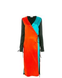 Vestido cruzado en multicolor de ATTICO