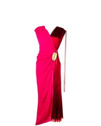 Vestido cruzado rosa de Marni