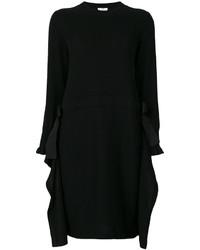 Vestido de cachemir negro de Fendi