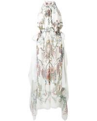 Vestido de encaje blanco de Fendi