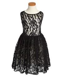 Vestido de encaje negro de Fiveloaves Twofish
