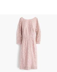 Vestido de encaje rosado de J.Crew