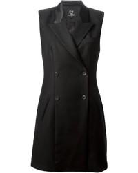 Vestido de esmoquin negro