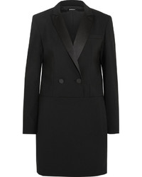 Vestido de esmoquin negro de DKNY