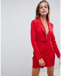Vestido de esmoquin rojo