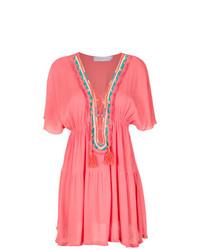 Vestido de fiesta bordado rosado de BRIGITTE
