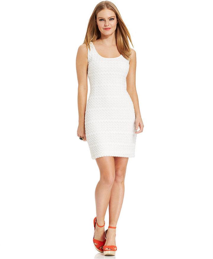 Vestido de Fiesta de Crochet Blanco de GUESS