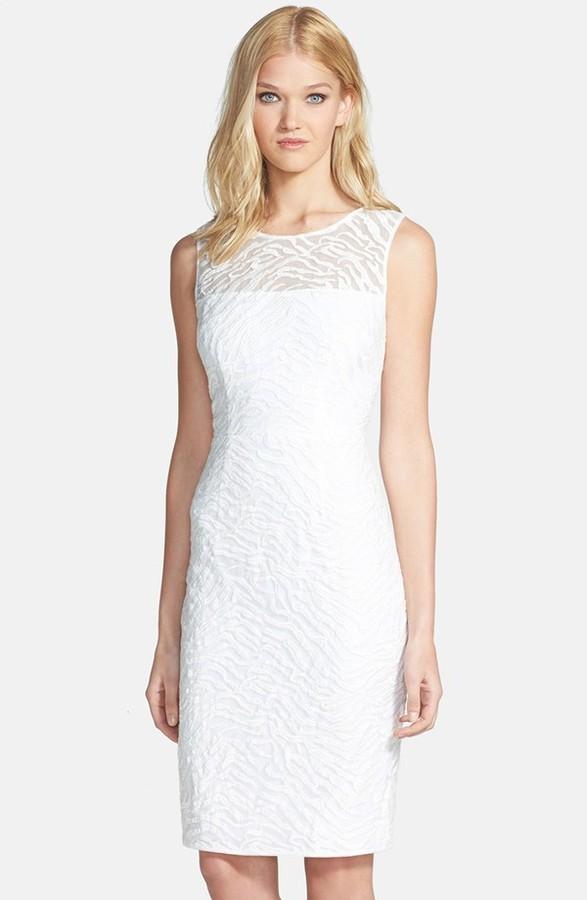 8af7c2a9a ... Vestido de fiesta de encaje blanco de BCBGMAXAZRIA ...