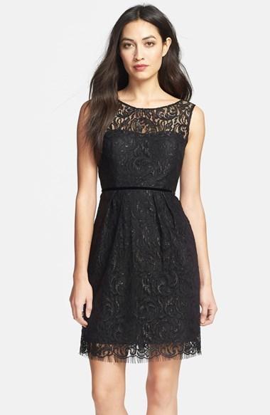 295 Vestido De Fiesta De Encaje Negro De Jenny Yoo