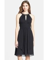 Vestido de fiesta de gasa negro