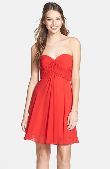 Gasa Faviana208Nordstrom Vestido Fiesta Rojo De tQdshCr