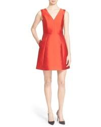 Vestido de fiesta de satén rojo de Kate Spade