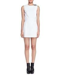 Vestido de lana blanco de Alexander McQueen