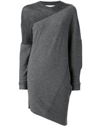 Vestido de lana de punto en gris oscuro de Stella McCartney