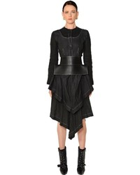Vestido de Lino Negro de Loewe