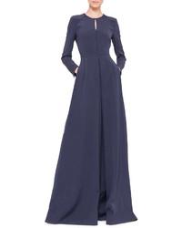 Vestido de Noche Azul Marino de Akris