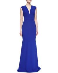 503115432 Comprar un vestido de noche azul Carmen Marc Valvo