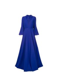 Vestido de noche azul de Greta Constantine